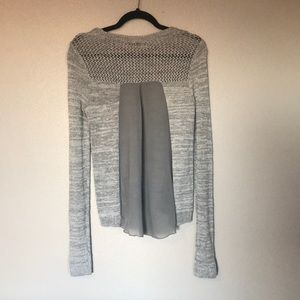 Abercrombie & Fitch Crochet Mesh Sweater